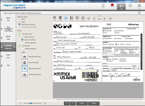 Paperstream Capture Profile Editor - FI7160