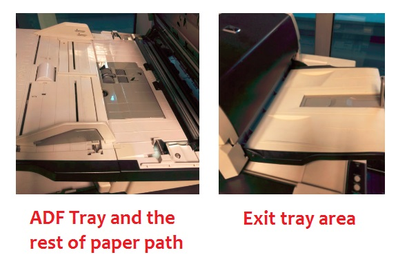 Scanner Cleaning For Begginers - ADF Tray, paper path and exit tray area