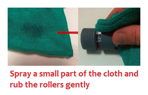Scanner Cleaning For Begginers - Cleaning the rubber rollers