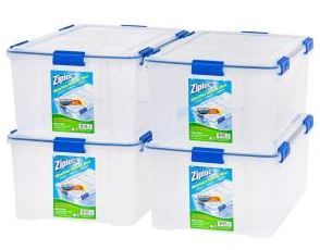 The best archival boxes for books - Picture of the Ziploc Weather Shield 44qt
