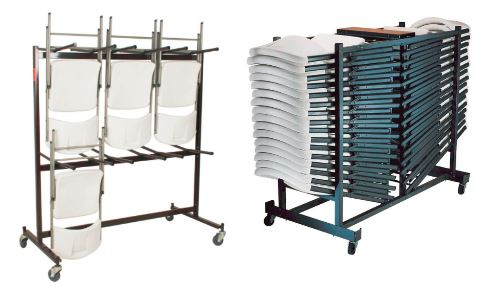 Carts for folding chairs - Folding chair racks  sc 1 st  learnusefulthings.com & 3 Carts for Folding Chairs that Will Make a Big Difference