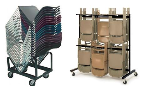 Carts for folding chairs