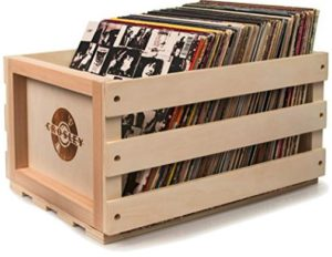 Shipping Boxes for Vinyl Records - Safely ship and store your LP's - Picture of a Wooden record crate for records