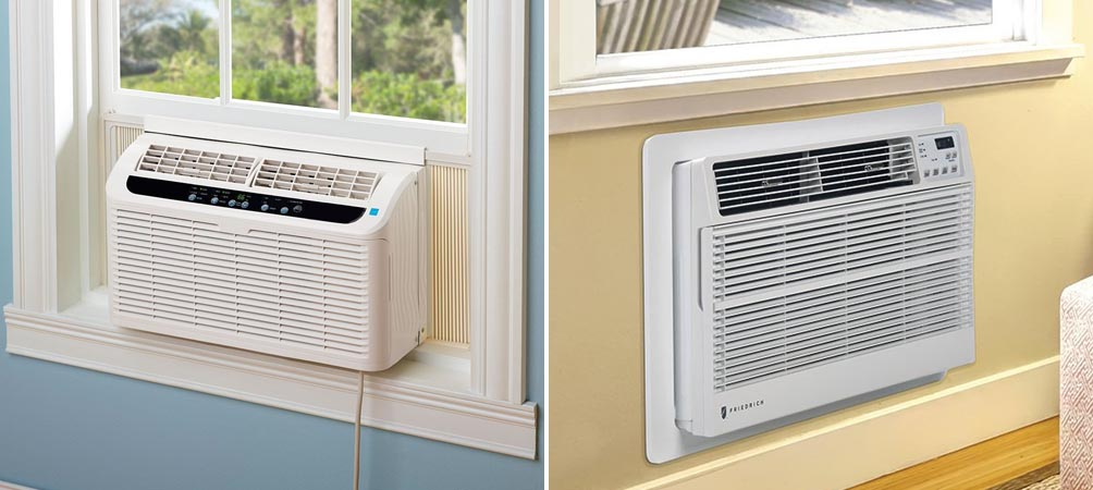 Picture of window mounted compact air conditioner